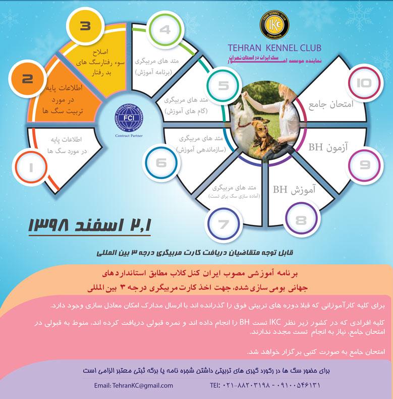 کلاس آموزش سگ تهران کنل کلاب